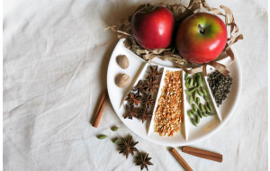 holiday spice plate